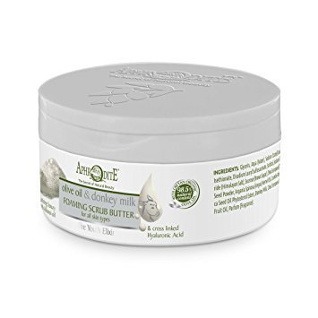 The Youth Elixir - Aphodite Olive Oil & Donkey Milk Foaming Scrub Butter 150 ml (Valley Luxury Soap)
