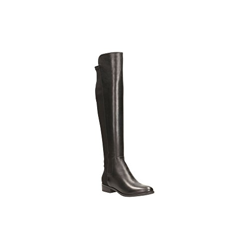 Belle' Knee Leather Womens Boots High Black Clarks 'Caddy wxqIdHqX