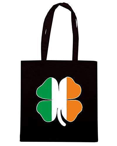 SHAMROCK Shirt Nera FLAG Borsa Speed TIR0097 Shopper IRISH 0q4xtd