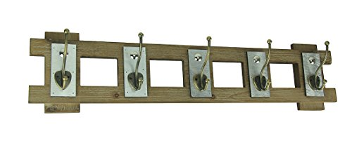 Premier Home Imports Rustic Contemporary Cutout Wood Hat Hook Wood Wall Hanging Wood & Metal Decorative Wall Hooks Brown by Premier Home Imports