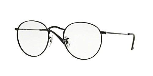 Ray-Ban Men's RX3447V Round Metal Eyeglasses Matte Black 50mm