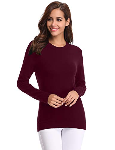 Rond Basique Winter Femme Femme Automne Pull Chic Pull Manches Tops col Confort Femme Longues Femme Pull Femme Pull sous wECqC1R8x