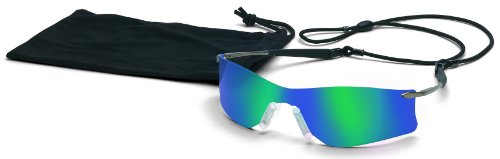 Crews T411G Rubicon Safety Glasses Emerald Mirror, 1 Pair 2