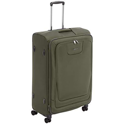 AmazonBasics Expandable Softside Spinner Luggage Suitcase With TSA Lock And Wheels - 29 Inch, Olive