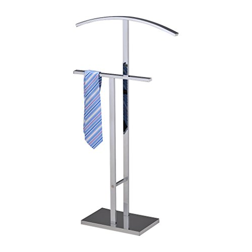 Pilaster Designs - Chrome Finish Metal Suit Rack Valet Stand