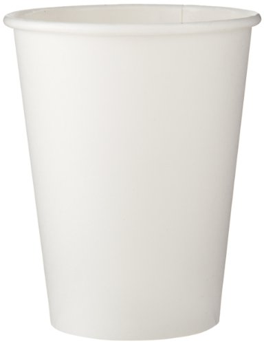 Dixie 2338W Paper Hot Cup, 8 oz Capacity, White (20 Sleeves of 50) from Dixie