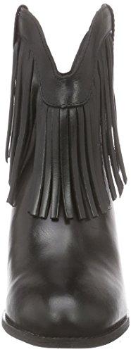 Buffalo London ES 30743 NOBUCK OIL - Botas de Piel para mujer Negro Schwarz (PRETO 01) 37