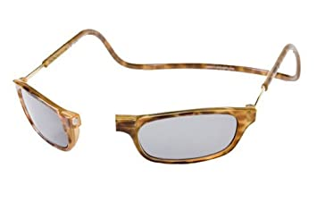 188909cb63 Image Unavailable. Image not available for. Color  Clic Magnetic Front  Connect Reading Sunglasses Tinted Reader in Tortoise ...