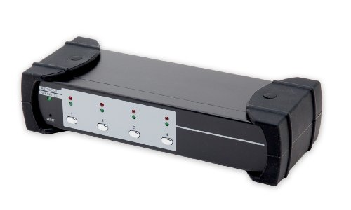 Syba KVM Switch with USB 3.0 4 Port HDMI,  2-Port USB 3.0 Hub and Audio/Mic (SY-KVM31036) by Syba