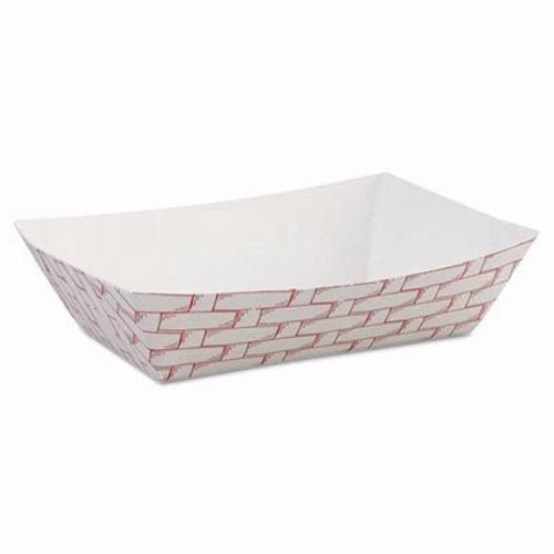 Boardwalk 30LAG040 6 oz Red Weave Paper Food Tray (Case of 1,000)