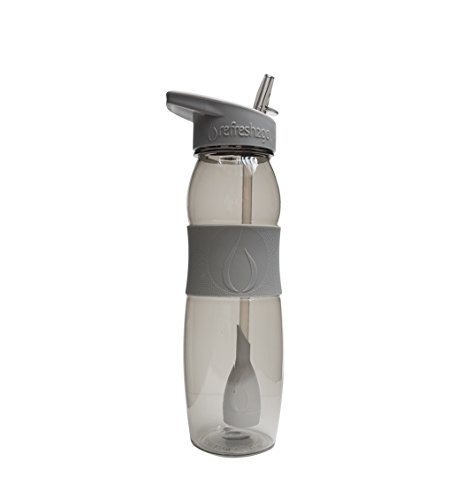 Refresh2go 1010-G refresh2go 26oz Curve Filtered Water Bottle with Grip - Grey