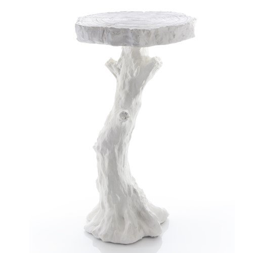 Modern Twisted Tree Root White Accent Table | Branch Faux Bois Rustic Vine (Twisted Branch)