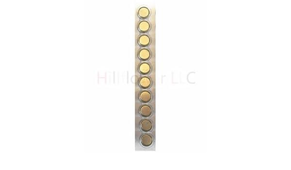 Hillflower 20 Piece AG5 LR48 G5 393 LR754 Card 0/% Hg 1.5V Long Duration Alkaline New Battery