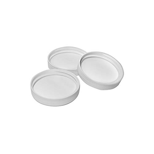 1 Gallon Replacement - Lot of 5 Screw On Caps 38mm Cap Lids, Plastic Tops for Water Bottles - White - 400 Thread Finish - Leak Proof - for 1 Gallon Water Bottles and Glass Jugs