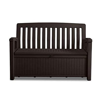 Amazoncom Patio Pool Side Storage Bench 60 Gallon Space Capacity