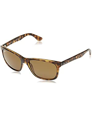 RB4181 - Light Havana Frame Polar Brown Lenses 57mm Polarized