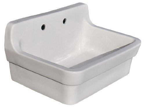 Ceramic 9.5' Garden - American Standard Plaster Wall Mounted Work Sink, 9061.193.020