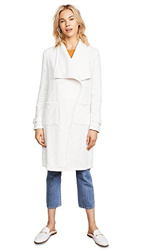 cupcakes and cashmere Women's Harlem Drape Front Knit Jacket, Oatmeal, Extra Small - Extra Small Oatmeal
