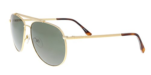 Lacoste Men's L177S Aviator Sunglasses, Gold, 59 - Lacoste Aviators