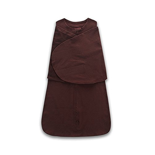 Miracle Baby Cotton Sleeping Sack Swaddling Wrap Baby Wearable Blanket Sleepbag Length 26''(Brown) - Brown 26'