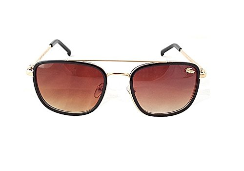 b4413c37aba Lacoste L148 S Wayfarer Golden Brown for Men   Women - Unisex (Generic)   Amazon.in  Clothing   Accessories