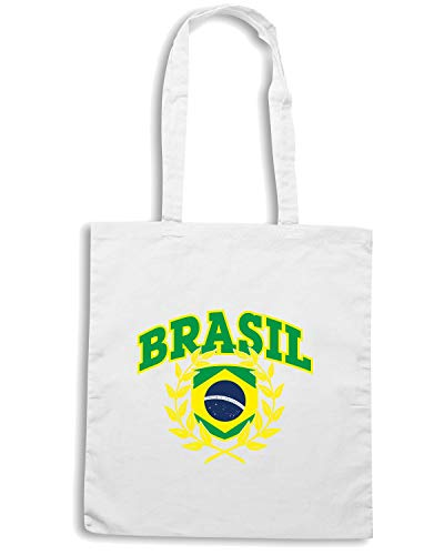 Speed BRSILE Borsa BRAZIL Shirt WC0040 Shopper Bianca q7vTq6