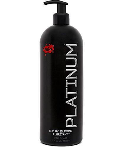 Wet Platinum Lube - Premium Silicone Based Personal Lubricant, 32 - Red Silicone Ounce 32