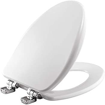 Bemis 19170chsl 000 Toilet Seat With Chrome Hinges Will