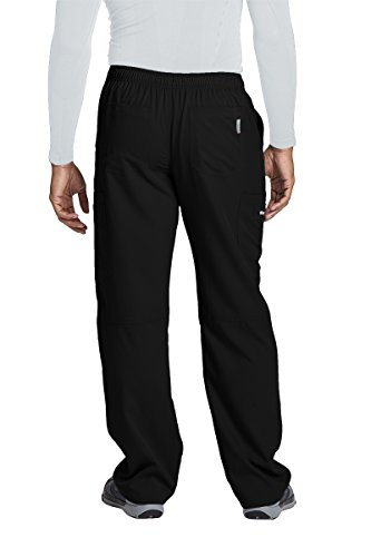 Grey's Anatomy Active 0215 Men's Cargo Pant Black XL by Barco (Image #2)