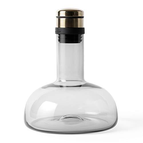 MENU Wine Breather Carafe (Smoke/Brass)