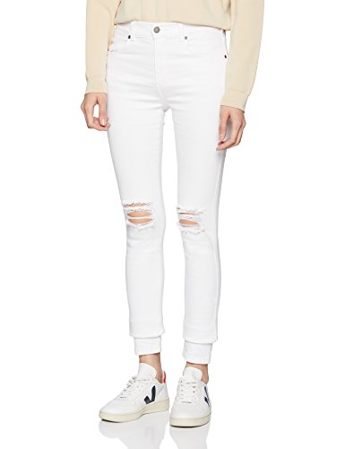 Jeans white Dr Bianco Ripped Denim Lexy Knees C03 Donna Skinny HxRRESBwq