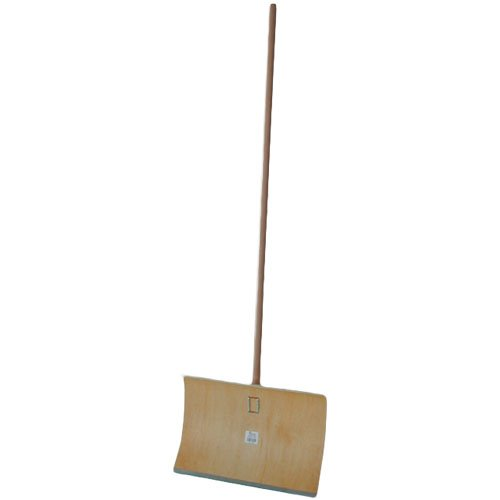 eHygiene Schneeschieber Holz 50 cm mit Stahlkante f/ür die manuelle Schneer/äumung