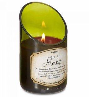 SKB family Wine Bottle Merlot Scented Candle home decor charming enhancing floral 3