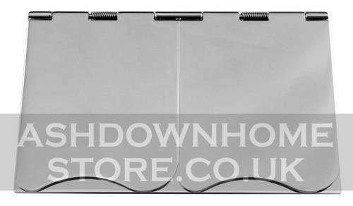G&H 610C 2 Gang 13 Amp Polished Chrome Floor Socket G&H Brassware