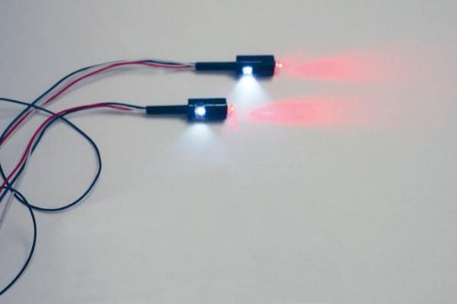 Custom Dynamics LED License Plate Tag Bolts with White LEDs and Red Turn/Brake or Turn/Running LEDs - Black TB03B