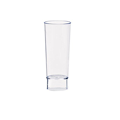- Tall Plastic Shot Glass (Case of 240), PacknWood - Recyclable Clear Mini Cup Shot Glasses (1.5 oz, 3.6