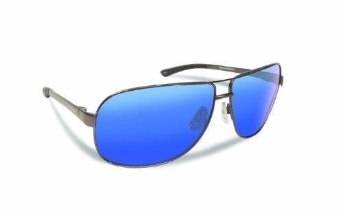 Flying Fisherman 7816GSB Highlander Polarized Sunglasses, Gunmetal Frame, Smoke-Blue Mirror - Polarized Eyes Angler Sunglasses