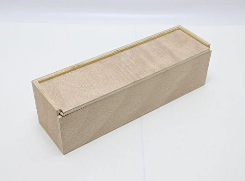 Fixture Displays 13 x 3.7 x 3.7' Single Bottle Wooden Wine Box Gift Box 14773