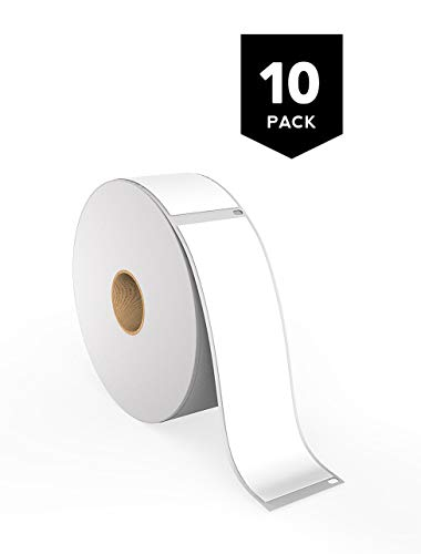 Waterproof Adhesive Labels - [10 Rolls] Dymo 30252 Compatible Thermal Shipping Labels - LW Address Labels, 1 1/8