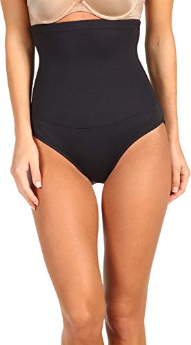 Maidenform Flexees Women's Shapewear Hi-Waist Brief Firm Control, Black, Medium