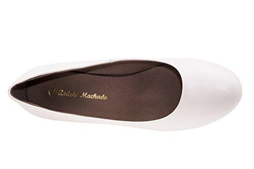 Blanc Andres Femme Similicuir Compensées Sandales Machado 4n1pnX6
