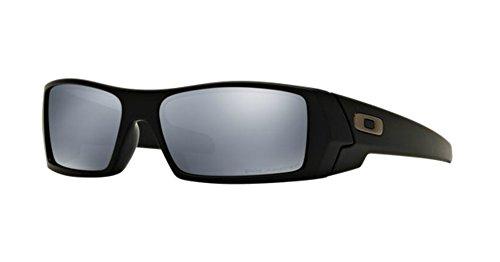 Oakley GasCan Matte Black w/Black Iridium Polar 12-856 + Free SD Glasses+Cleaning - Black Matte Oakley Gascan