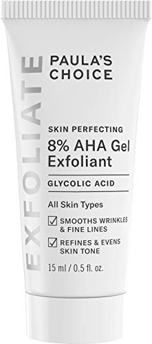 Paula's Choice-SKIN PERFECTING 8% AHA Gel Exfoliant-with Glycolic Acid Soothing Chamomile and Green Tea, Travel Size Leave-On Gentle Exfoliator for Normal, Dry, Oily, Combination Skin, .5 oz