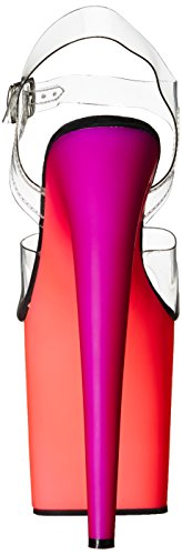 Pleaser RAINBOW-808UV Clr/Neon Multi Size UK 5 EU 38