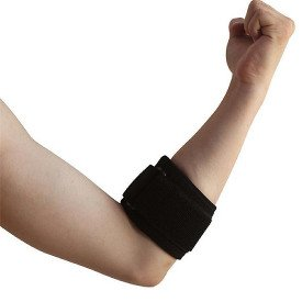 Tendonitis Golf & Tennis Elbow Brace: Adjustable Forearm Compression Support Pad & Sweatband - Relieves Ulnar Nerve Pain, Carpal Tunnel Syndrome, Bursitis, Arthritis & Muscle Aches