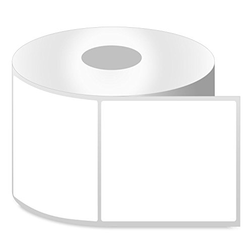OfficeSmartLabels ZE1400400 4 x 4 Inch Direct Thermal Labels Compatible with Zebra Printers (1 Roll, White, 350 Labels Per Roll, 1 inch Core)