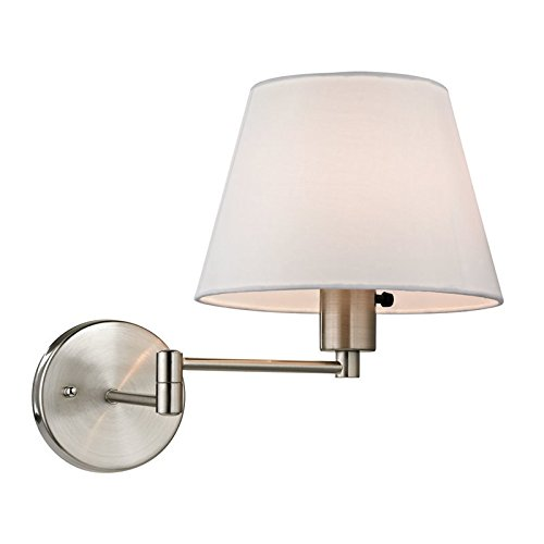 Elk 1 Light Vanity (Elk Lighting 17153/1 Avenal Collection 1 Light Swingarm, Brushed Nickel)