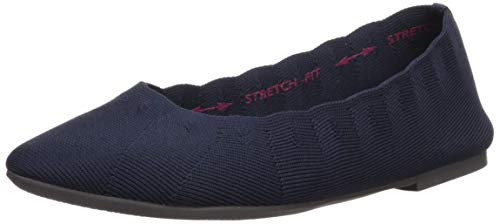 Skechers Women's Cleo Bewitch Ballet Flat,Navy,9.5 M US