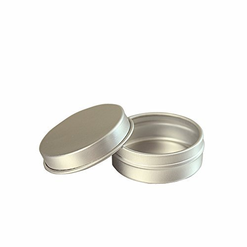 - 3PCS 10ML Empty Electroplating Aluminum Bottle Portable Refillable Circular Metal Box Cream Jar Makeup Container Packing Cans for Shea Butter Pomade Lipstick Ointment
