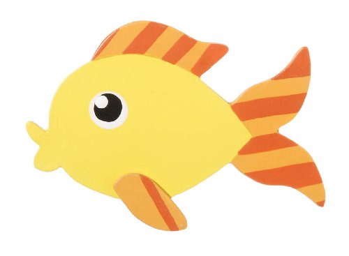 Darice 9189-67 Painted Friendly Fish Shape (Painted Wood Shapes)